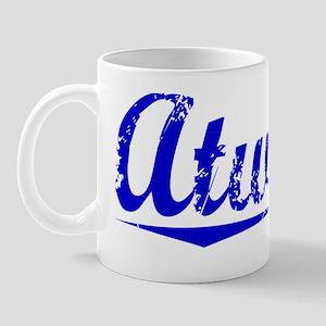 Atwater, Blue, Aged Mug