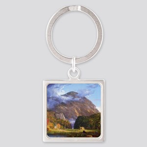 Thomas Cole A View Of The Mountain Square Keychain