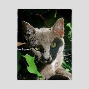 Russian Blue Cat Twin Duvet