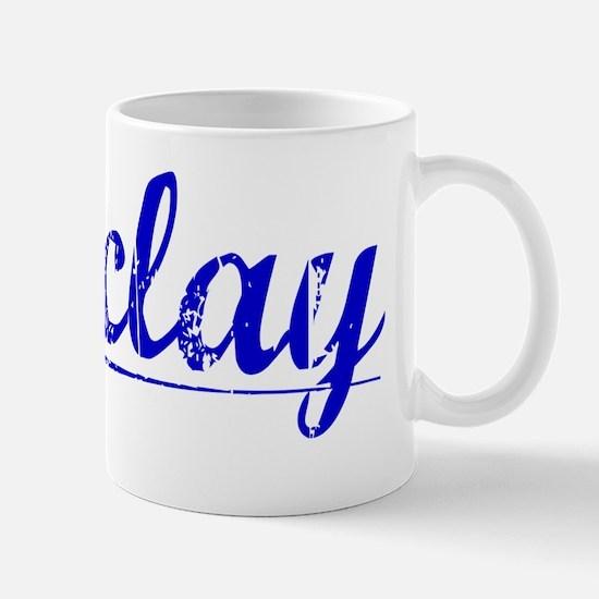 Barclay, Blue, Aged Mug