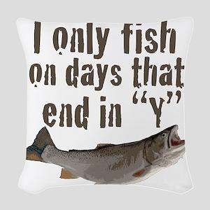 I fish Woven Throw Pillow