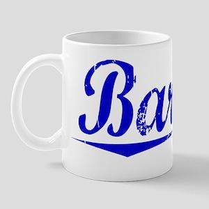 Barrett, Blue, Aged Mug