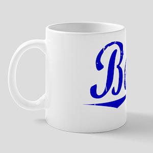 Beaty, Blue, Aged Mug