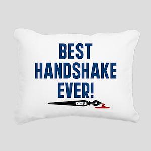 Castle Best Handshake Ev Rectangular Canvas Pillow