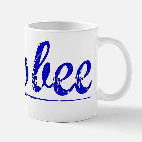 Bisbee, Blue, Aged Mug