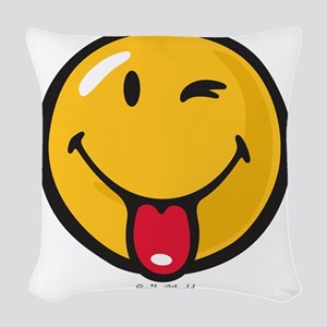 Smileyworld Playful Woven Throw Pillow
