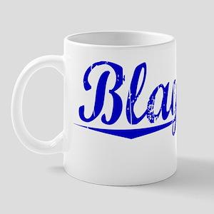 Blaylock, Blue, Aged Mug