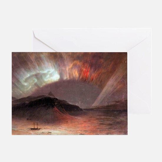 Frederic Edwin Church Aurora Boreali Greeting Card
