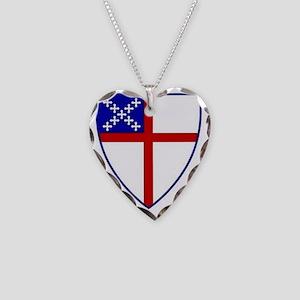Episcopal Church Necklace Heart Charm