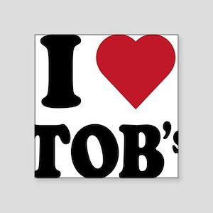 """I heart tob's Square Sticker 3"""" x 3"""""""