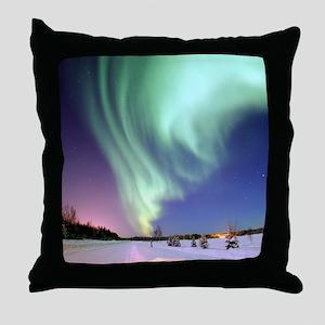 Alaska Aurora Throw Pillow