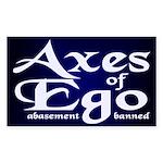 Axes of Ego Rectangle Sticker