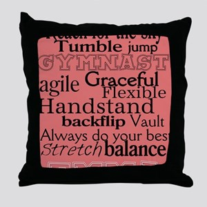 Gymnastics Poster Throw Pillow