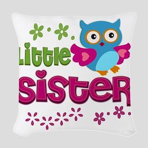 Little Sister Woven Throw Pillow