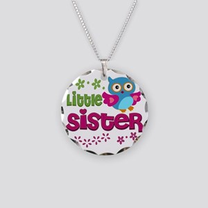 Little Sister Necklace Circle Charm