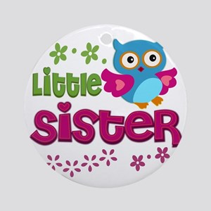 Little Sister Round Ornament