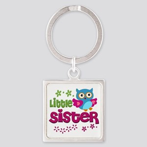 Little Sister Square Keychain