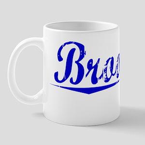 Brooking, Blue, Aged Mug