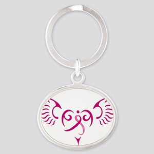 Style Me Pink Oval Keychain