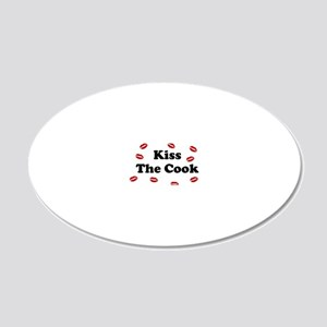 kiss The cook 20x12 Oval Wall Decal