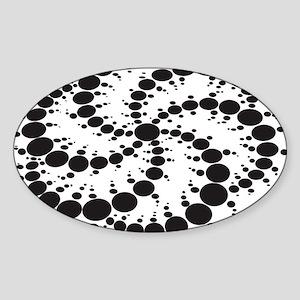 Crop Circles Consciousness Sticker (Oval)