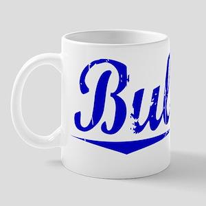 Bullion, Blue, Aged Mug