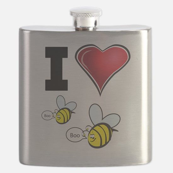 I Love Boo Bees Flask