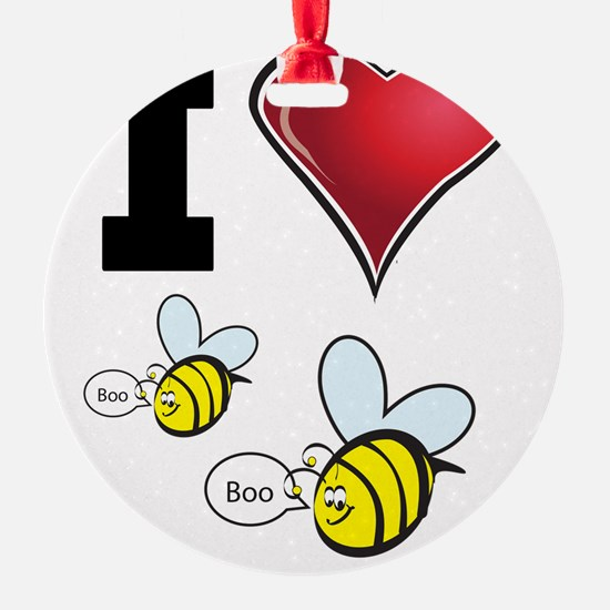 I Love Boo Bees Ornament