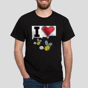 I Love Boo Bees Dark T-Shirt
