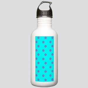 Pink Blue Floral Simpa Stainless Water Bottle 1.0L