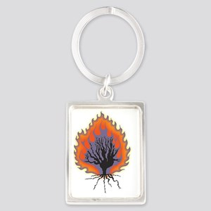 The Burning Bush Portrait Keychain