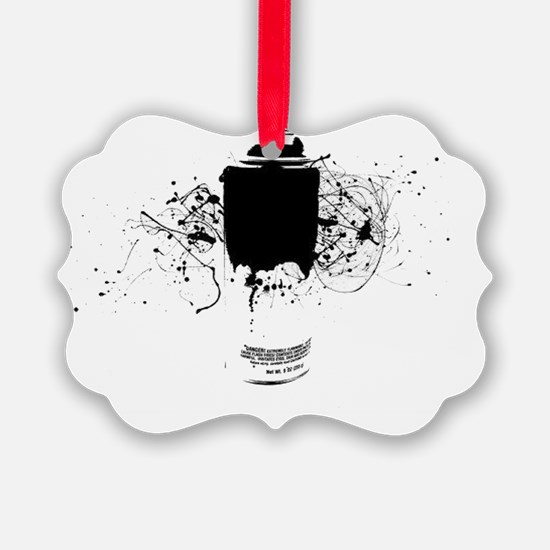 Graffiti Splatter Spray Paint Can Ornament