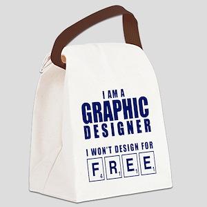 NO FREE DESIGNS Canvas Lunch Bag