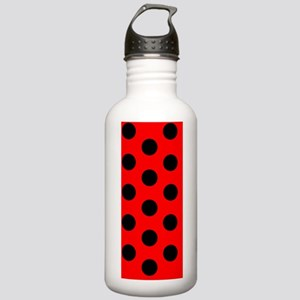 Red Black Polka Dots D Stainless Water Bottle 1.0L