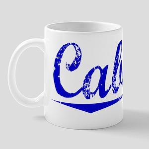 Cabana, Blue, Aged Mug