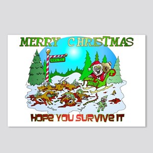 Zombie Christmas Killings Postcards (Package of 8)
