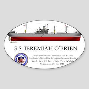 SS Jeremiah OBrien Liberty Ship Sticker (Oval)