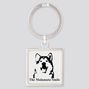 The Malamute Smile Square Keychain
