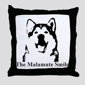 The Malamute Smile Throw Pillow