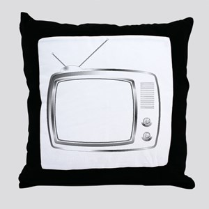 Scene of Action TV White Throw Pillow