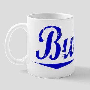 Butner, Blue, Aged Mug
