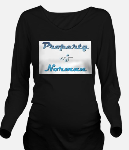 Property Of Norman Male Long Sleeve Maternity T-Sh