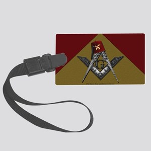 Shriners pyramid Large Luggage Tag