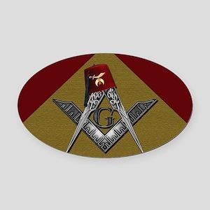 Shriners pyramid Oval Car Magnet