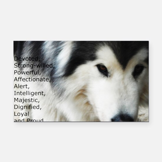 Proud to be a Malamute Rectangle Car Magnet