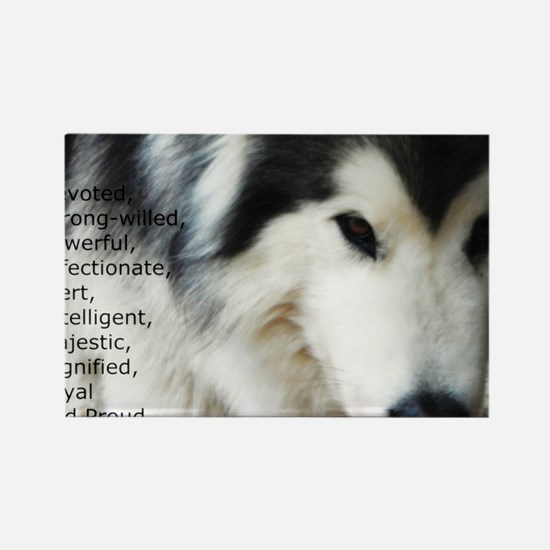 Proud to be a Malamute Rectangle Magnet