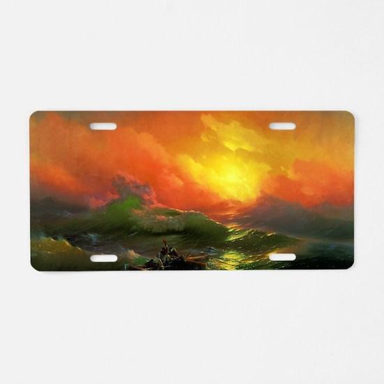 Ivan Aivazovsky The Ninth W Aluminum License Plate