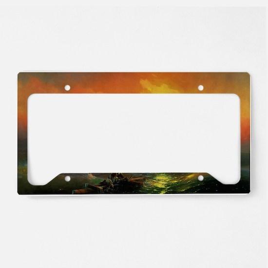 Ivan Aivazovsky The Ninth Wav License Plate Holder
