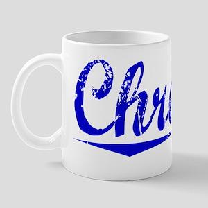 Chretien, Blue, Aged Mug
