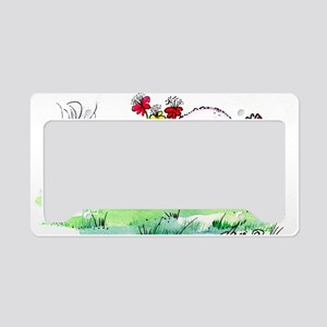 Bichon Frise License Plate Holder